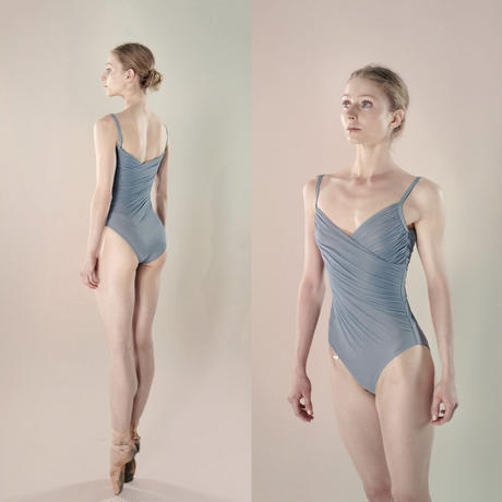 [Just A Corpse] GRÈS – cache coeur draped leotard (blush / blue / nude / black)