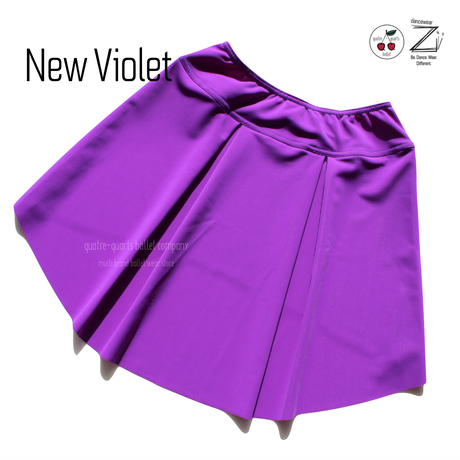 "[Zi dancewear] The Skirt Stretches ""New Violet"""