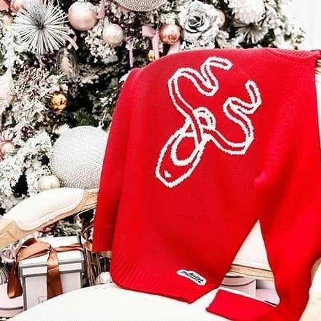 [予約商品・Ballet Maniacs] Pointe shoes reindeer Sweater