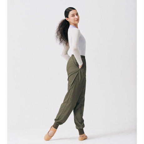 "[S M K] GREEN RECYCLED POLYESTER UNISEX PANTS ""シャカパン"""