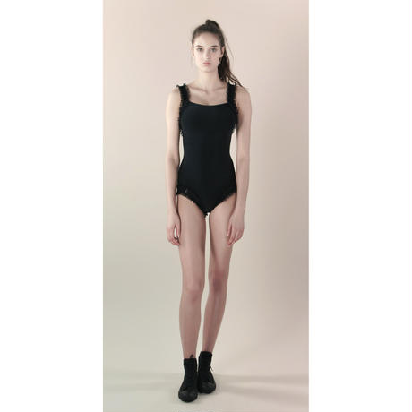 [Just A Corpse]  ELEANOR LIGHT – black leotard with straps