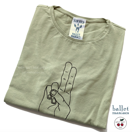 [Ballet Maniacs] T-shirt Olive Natural Born Ballet Maniacs for boys & girls by Igor Kolb