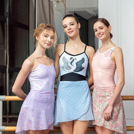 """[Ballet Maniacs] Wrap Skirt """"Rose"""""""