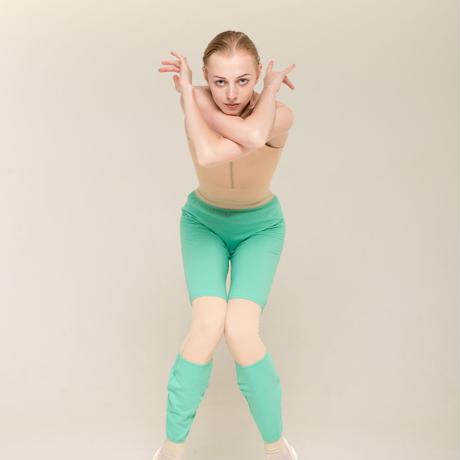 [Zi dancewear] Trousers with colour knee ・2型