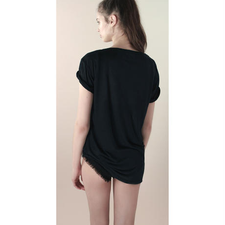 [Just A Corpse]  TENDER TEE – black oversized tee