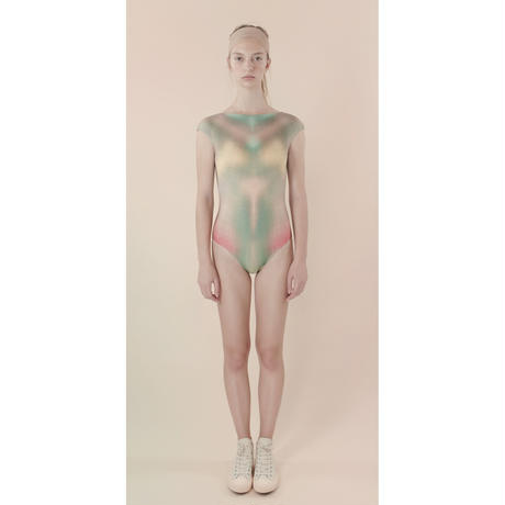 [Just A Corpse] PEACHES – green backless leotard