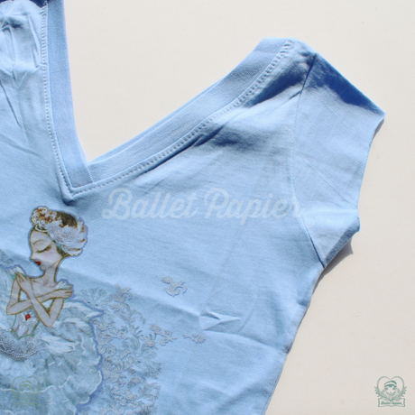 [Ballet Papier] V-NECK T-SHIRT   'PAVLOVA THE LEGEND'