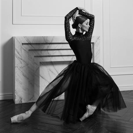 [予約商品・Ballet Maniacs] Leotard Casta Diva by Evgenia Obraztsova Black