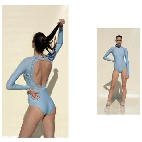 [Just A Corpse・予約商品] ELEANOR BACKLESS LEOTARD - BLUE JEANE
