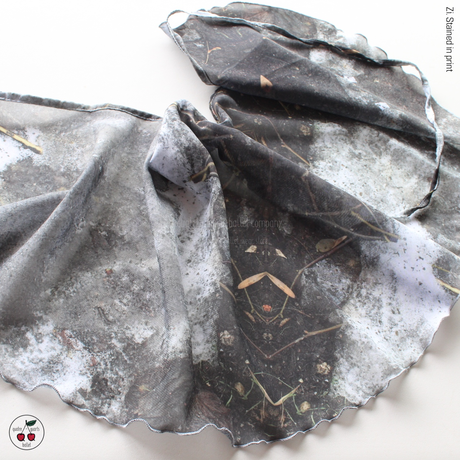 [Zidans] Chiffon skirt (M丈), stained with the print Delicate Dirt & Mud