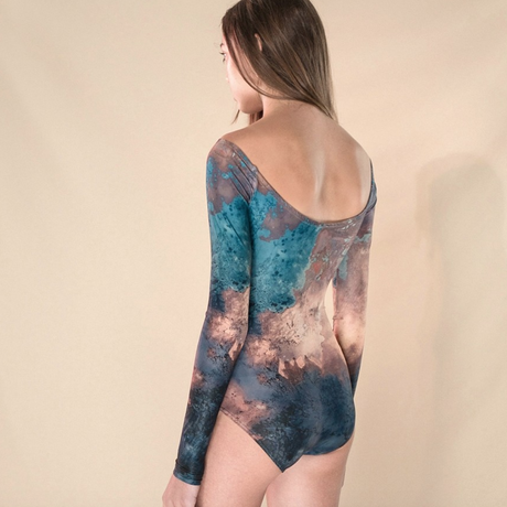 [Just A Corpse] CRYSTAL LIGHT LEOTARD WITH LONG SLEEVES - NEGATIVE