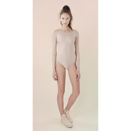 [Just A Corpse]  ISOLINE – nude leotard with sleeves