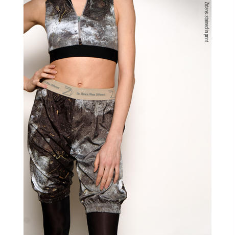 [Zidans] Warming sauna-pants Medium, stained in print Mud