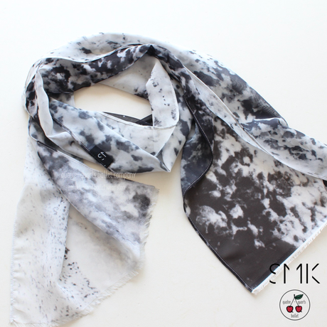 [S M K] ICE RECYCLED POLYESTER SCARF (SCARF01)