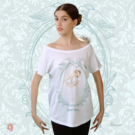 Ballet Papier Loose Fit Style T-shirt 'Swan Queen'