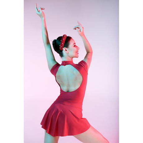 [Ballet Maniacs] Red Poppy leotard by Kristina Kretova