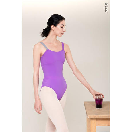 "[Zi dancewear] Strap leotard ""New Violet"""