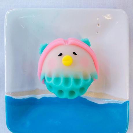 【かわいい上生菓子を食べて暑い夏を乗り切ろう!!】夏のアマビエちゃんと季節の練切6個入り