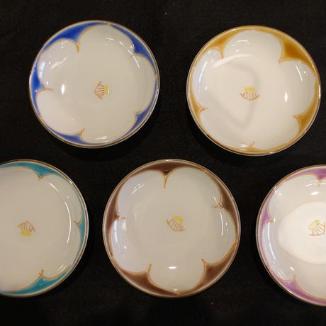 小皿揃え(丸型椿5色)
