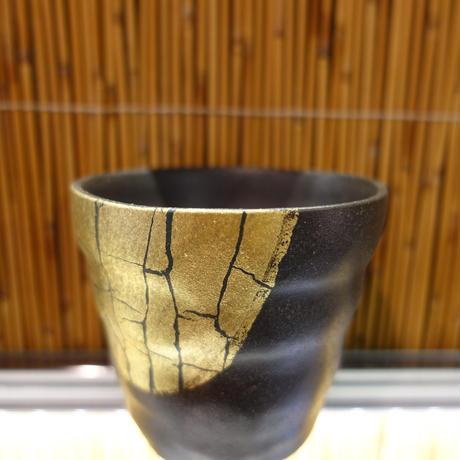 ロックカップ(金箔彩黒)