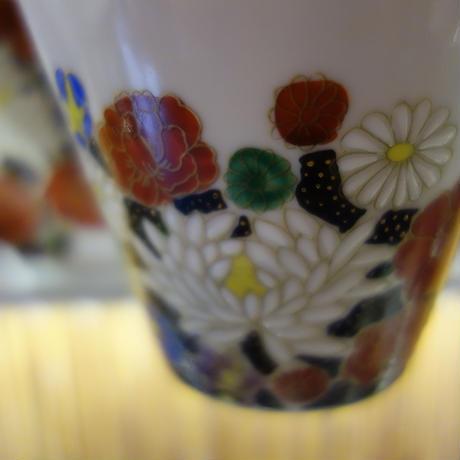 カップ&ソーサ花詰(ブラック)