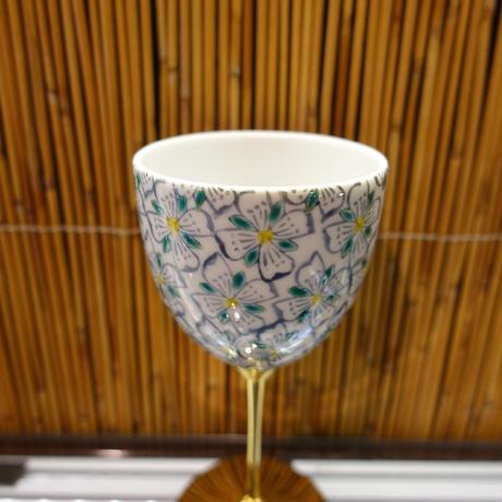 ワインカップ(花小紋青)