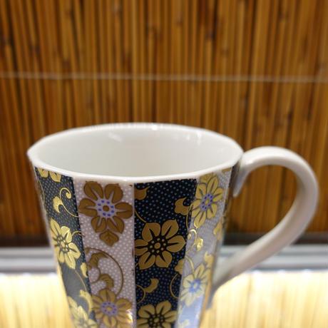 マグカップ(間取青粒白粒)