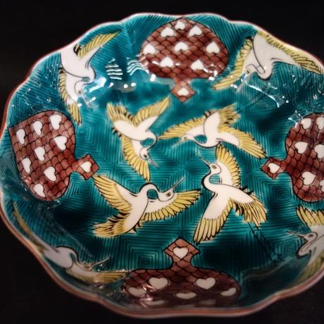 鶴カルタ文5号鉢