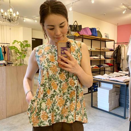 【CLOCHE クロシェ】flowerprint blouse  (フラワープリントブラウス)