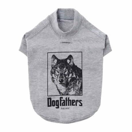 【HAINU ハイヌ】Dog Ancestors T-shirts for Dog  (ドッグアンセスターフォードッグ)black/grey