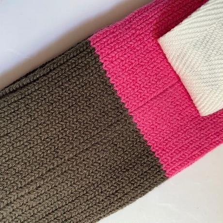 【Traditional Wetherwear/トラディッショナルウェザーウエア】BICOLOR SOCKS  brown×pink