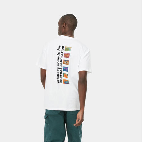 【Carhartt WIP /カーハートウィップ】S/S CALIBRATE T-SHIRT - White I029-017