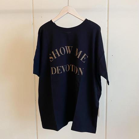 【siro de labonte シロ】 SHOW ME DEVOTION 2way tee -black-R113224