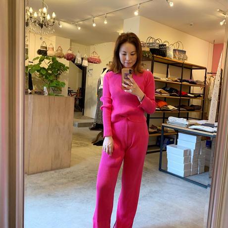 【Bed&Breakfast ベッド&ブレイクファースト】Exclusive Rib Pants (エクスクルーシブリブパンツ)Pink