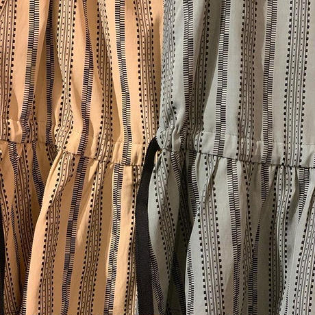 【Greed Internationalグリードインターナショナル】Dobby Stripes Waist Gathered Sleeveless