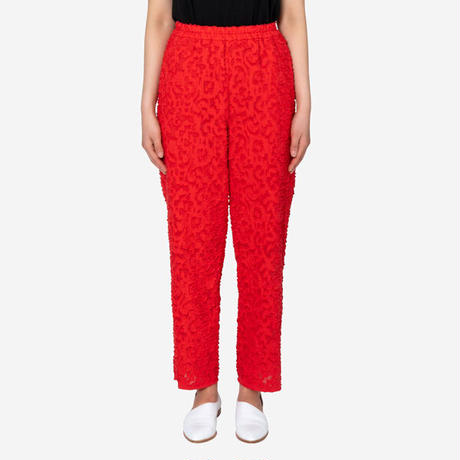 【Greed International グリードインターナショナル】Original Flower Cut JQ Pants in Red