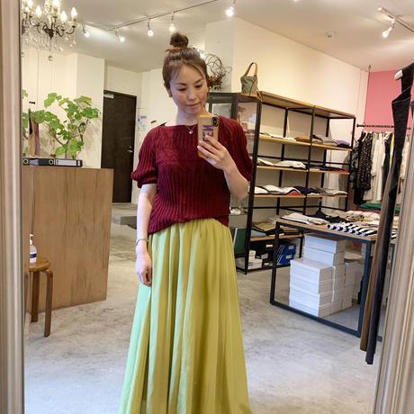 【mieyamieya ミエヤミエヤ】cotton linen pullover   (コットンリネンプルオーバー)-beige/red/blue
