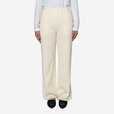 【Bed&Breakfast ベッド&ブレイクファースト】Natural Rib Pants in Ivory