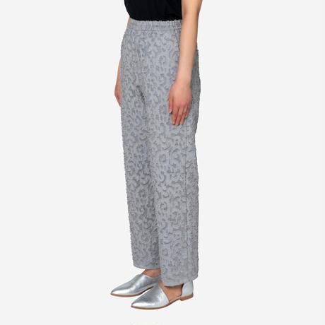 【Greed International グリードインターナショナル】Original Flower Cut JQ Pants in Light Gray