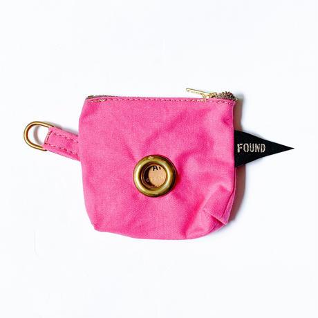 【Found My Animal /ファウンドマイアニマル】POOP BAG POUCH    (プープバッグ BRIGHT PINK