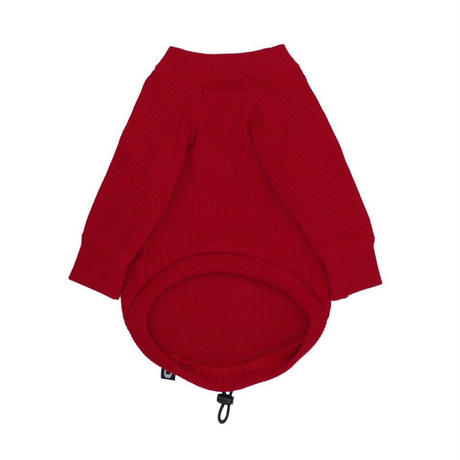 【HAINU/ハイヌ】L/S THERMAL TEE (ロングスリーブサーマル)/ red/black