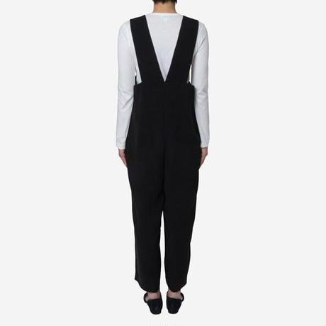 【Greed International グリードインターナショナル】Standard Double Cloth Salopette in Black