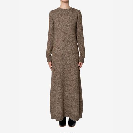 【Bed&Breakfast ベッド&ブレイクファースト】silk nep wool Knit Dress(シルクネップウールニットドレス)brown