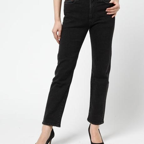 【Greed International グリードインターナショナル】standerd high stretch black mom's denim (ママズデニム)black