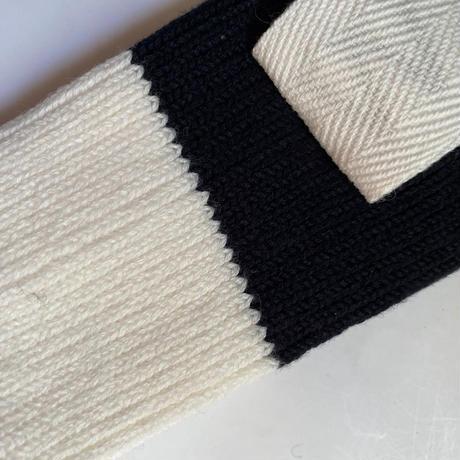 【Traditional Wetherwear/トラディッショナルウェザーウエア】BICOLOR SOCKS  white×black