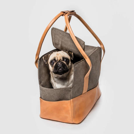 【Cloud7/クラウド7】Dog Carrier Roma  (ドッグバッグ)-Canvas Leather
