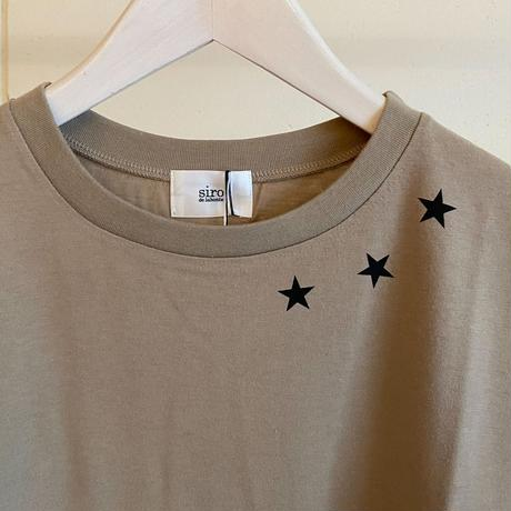 【siro de labonte シロ】triple star tee-beige-R113227