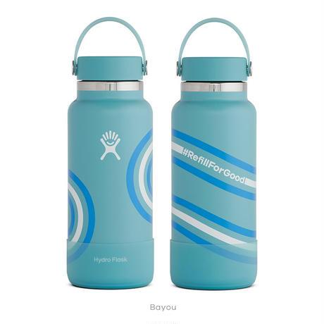 【限定モデル】【ハイドロフラスク/Hydro Flask】 REFILL FOR GOOD COLLECTION 32oz Wide Mouth ステンレスボトル(946ml)