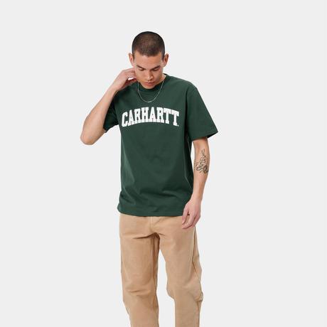 【Carhartt WIP /カーハートウィップ】S/S UNIVERSITY T-SHIRT - Treehouse / White