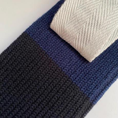 【Traditional Wetherwear/トラディッショナルウェザーウエア】BICOLOR SOCKS  black×dark navy